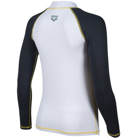 arena Rash LS UV Vest Boys, wit/grijs